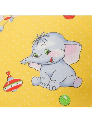 Наволочка на подушку для беременных «Солнечные слоники»