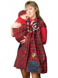 Смотреть Слинг с кольцами Шотландка в Интернет-магазин Василинка