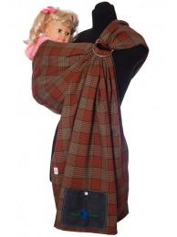 Выбрать Слинг с кольцами Шотландка терракот в Интернет-магазин Василинка