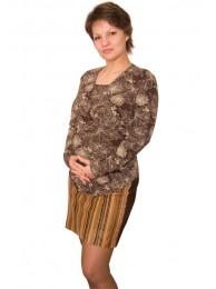 Смотреть Джемпер для беременных и кормящих Шоколадная фантазия в Интернет-магазин Василинка