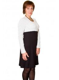 Приобрести Платье для кормления Черное и белое классик в Интернет-магазин Василинка