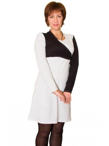 Приобрести Платье для кормления Черное и белое модерн в Интернет-магазин Василинка