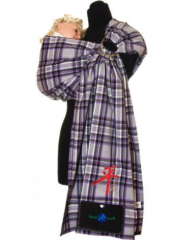 Купить Слинг с кольцами Шотландка фиолет в Интернет-магазин Василинка
