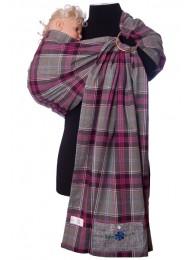 Купить Слинг с кольцами Шотландка серая в Интернет-магазин Василинка